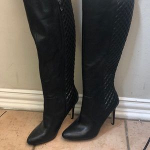 BCBG Leather Quilted Boots